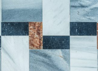 blue tile of the best flooring for manufactured homes