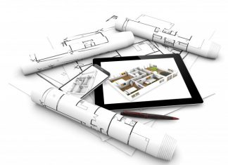 plans and the best home design software as shown on an mobile tablet