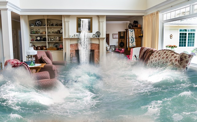 flooding  inside the living area